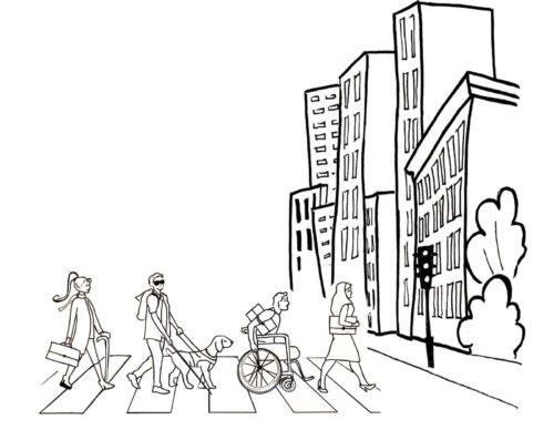 gebouw met mensen